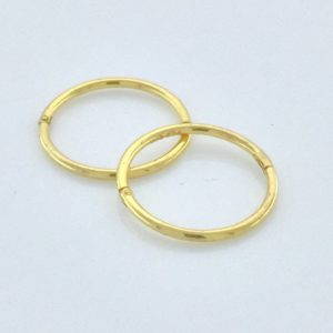 Gold Plated .925 Silver 18Gauge 1/2 inch Smooth Hinged Hoop – S852STX