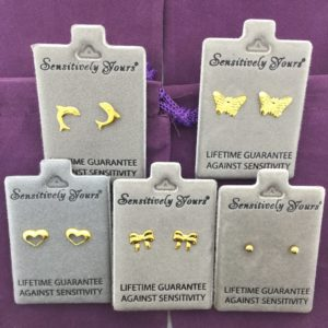 Gift Box of 5 Children's Gold Earrings – GB002
