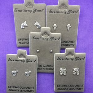 Gift Box of 5 Children's Silver Earrings – GB005