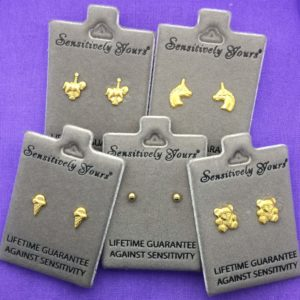 Gift Box of 5 Children's Gold Earrings – GB007