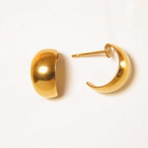 Gold Wide Baby Hoop Earrings – JA125