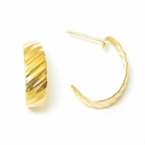 Gold Lined J Hoop Earrings – JA130