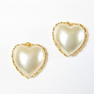Pearl Heart Earrings – JA149