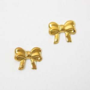 Gold Bow Earrings – JA187