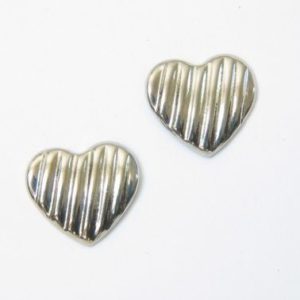 Silver Lined Heart Earrings – JA194