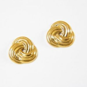 Gold Love Knot Earrings – JA218