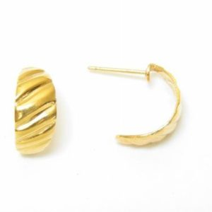 Baby Scroll Lined Hoop Earrings – JA226-A