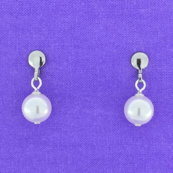 8mm Pearl Post Earrings – JCL025