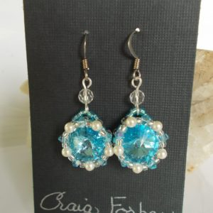 Aquamarine Rivoli Earrings – JS132