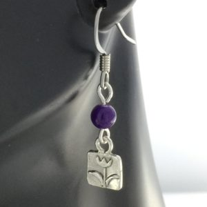 Purple Jade Tulip Earrings – JSD055