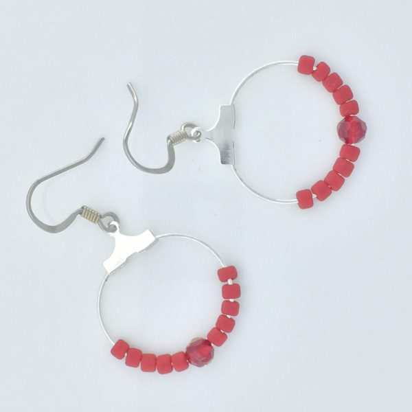 All About Red Hoop Earrings – JSD069