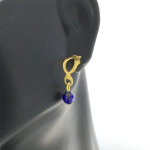 Lapis Lazuli Loop Earrings – JA433