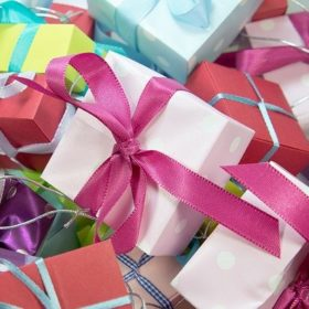 gift card | Multi-colored Gift Boxes Gift Card