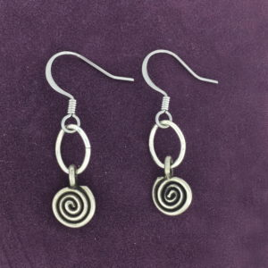 Silver Spiral Earring – JCL117