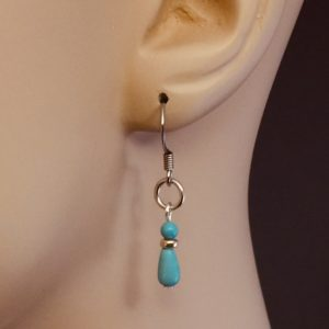 Turquoise Teardrop Earrings – JCL126