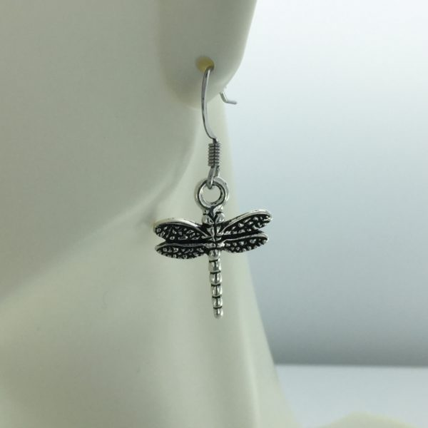 Silver Dragonfly Earrings – JCL130