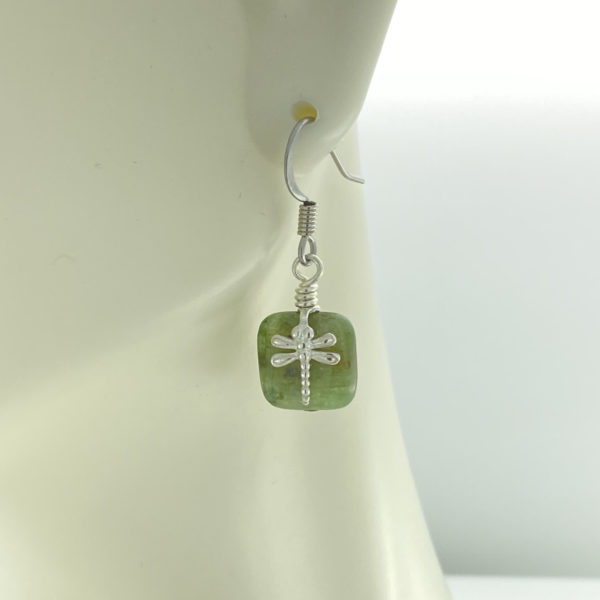 Green Kyanite with Dragonfly Earrings – JCL144
